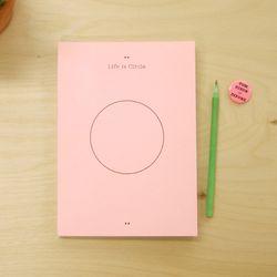 CIRCLE DIARY M-pink