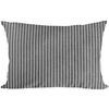 pillow cover gray stripe