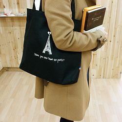 14800 캔버스백 조선진 에펠탑 네이비M