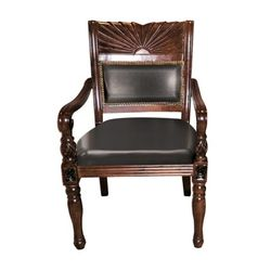 [체어우드] 엔듀 397 직각 가죽 원목 의자 (착불) 국내제조 인기상품