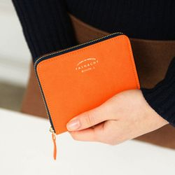 (S) Zipper Wallet - ORANGE