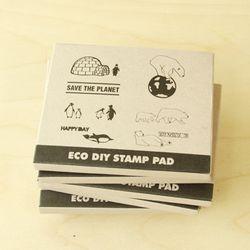 ECO DIY STAMP PAD-SAVE THE EARTH