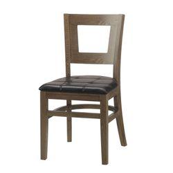 [체어우드] 카우라 383 사각 원목 의자 (착불) 국내제조 인기상품