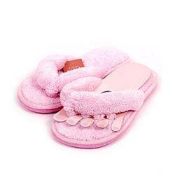 걸레부착 초극세사 발가락 슬리퍼-핑크