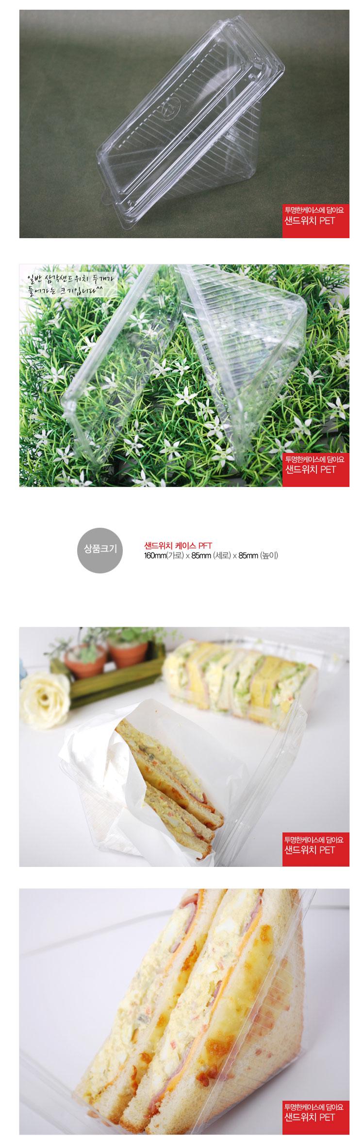 샌드위치 케이스 pet x5개 - 이홈베이킹, 1,000원, 피크닉도시락/식기, 피크닉도시락통