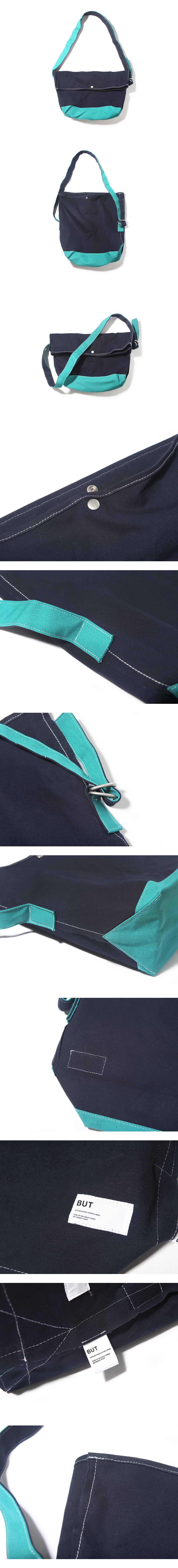 FLAP MESSENGER BAG-NAVY/MINT