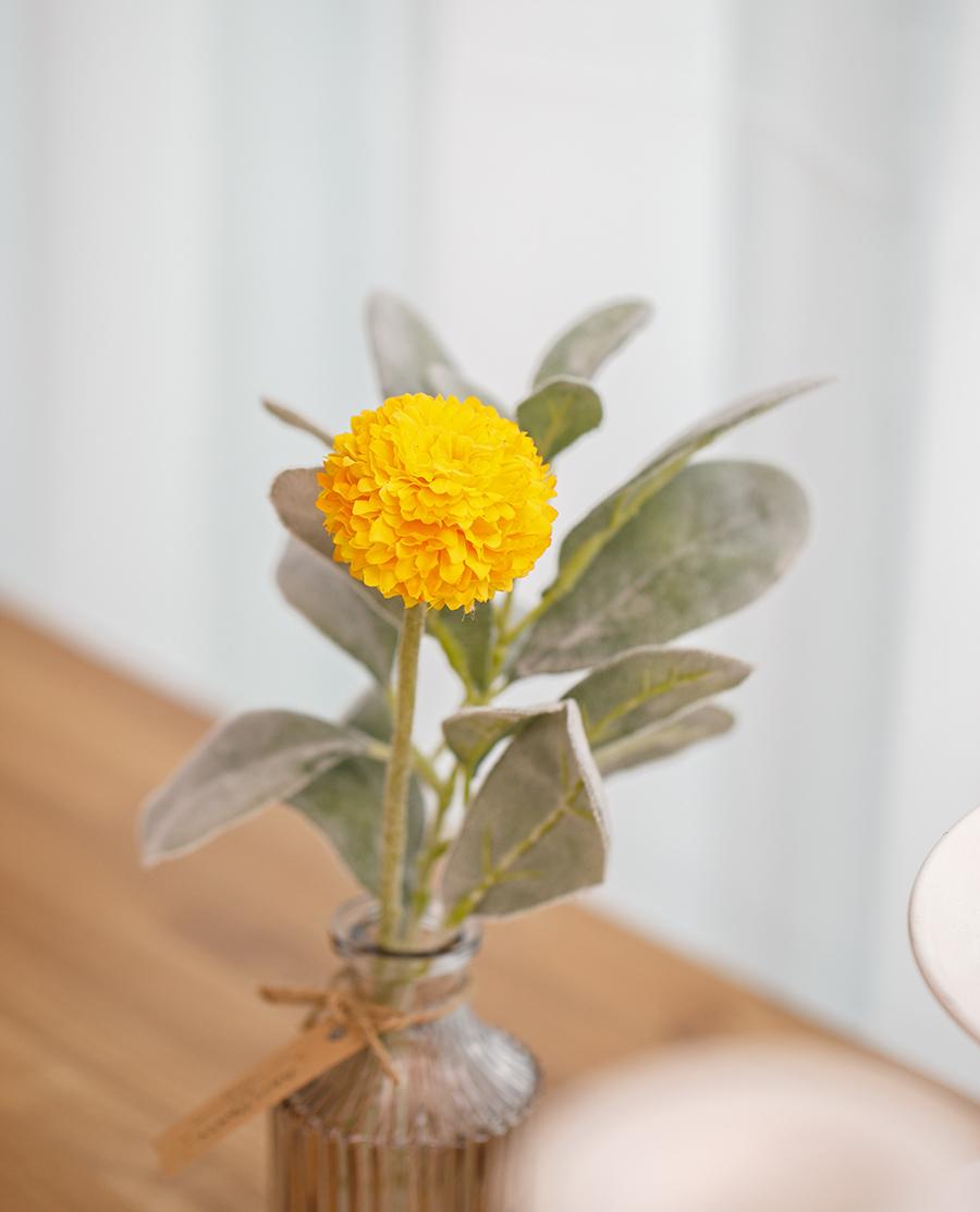 행운의 메리골드 화병세트_메리골드외 1 조화묶음 - 아티파티, 16,800원, 조화, 꽃다발/꽃바구니