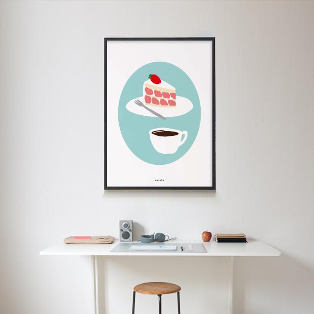 유니크 인테리어 디자인 포스터 M 딸기케�弱� 커피 카페 - 모노하, 14,800원, 홈갤러리, 포스터