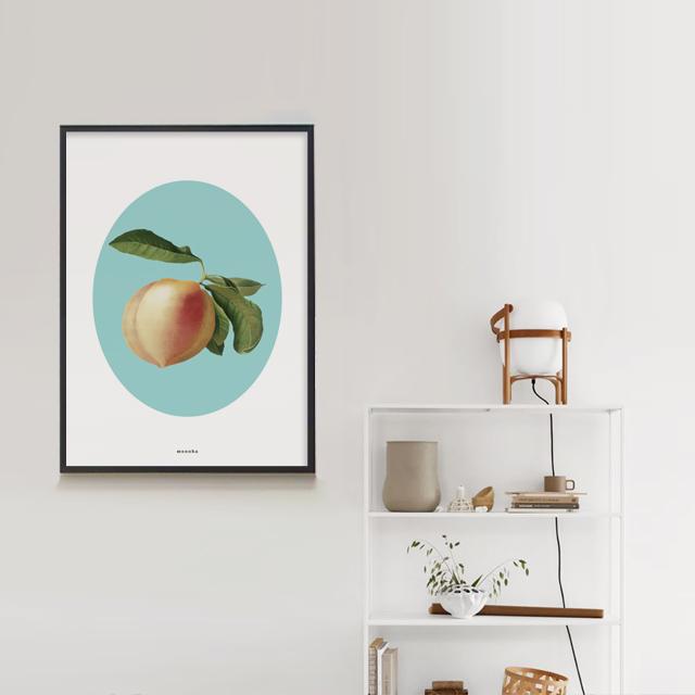 유니크 인테리어 디자인 포스터 M 복숭아 여름 과일 - 모노하, 14,800원, 홈갤러리, 포스터