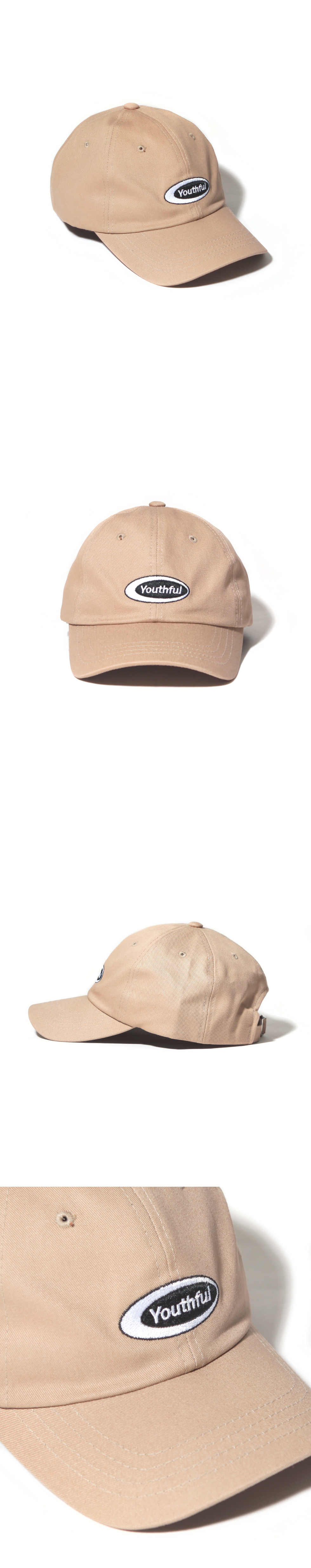OVAL CURVED CAP-BEIGE