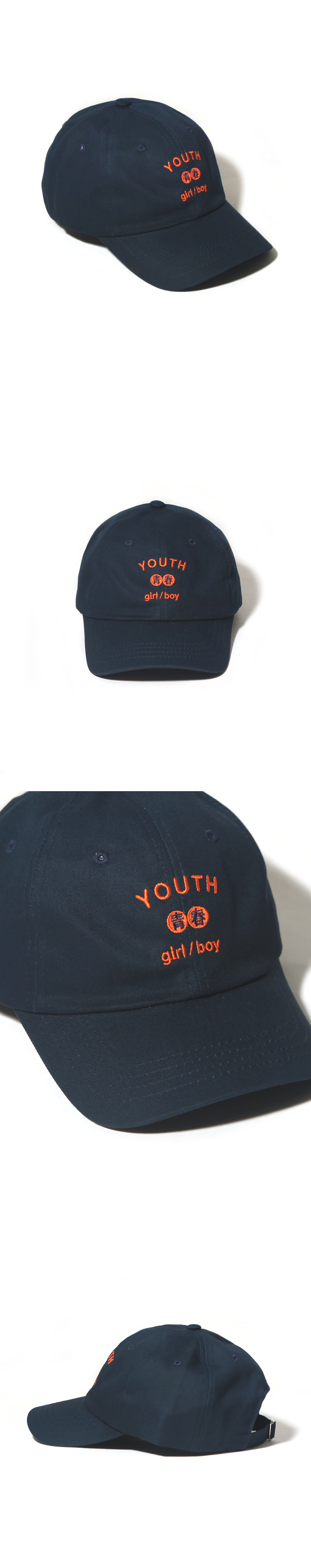 YOUTH CURVED CAP-NAVY