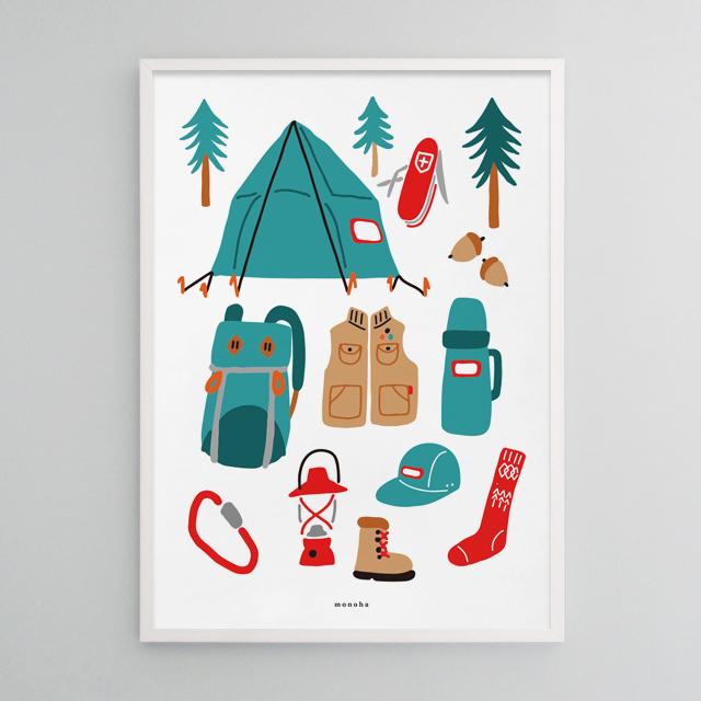 유니크 인테리어 디자인 포스터 M 고 캠핑2 아웃도어 라이프 - 모노하, 14,800원, 홈갤러리, 포스터