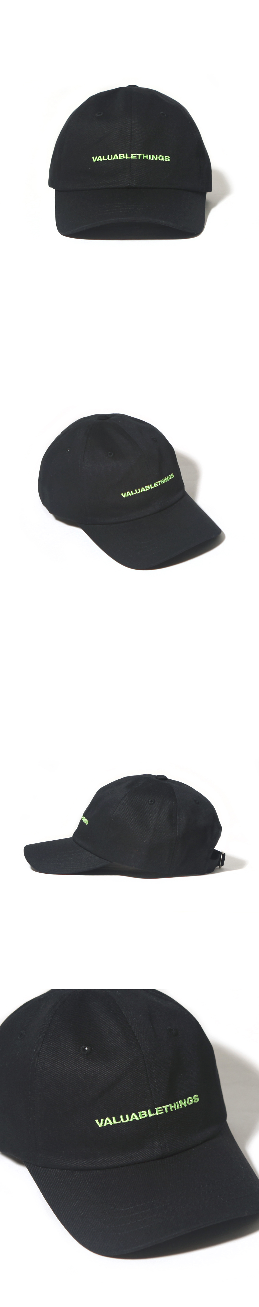 VALUABLE CURVED CAP-BLACK