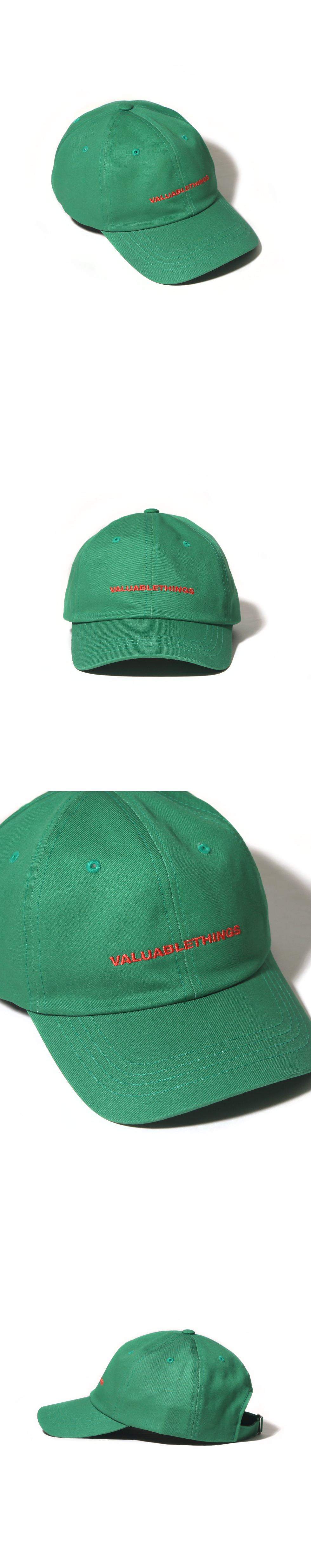 VALUABLE CURVED CAP-LIGHT GREEN