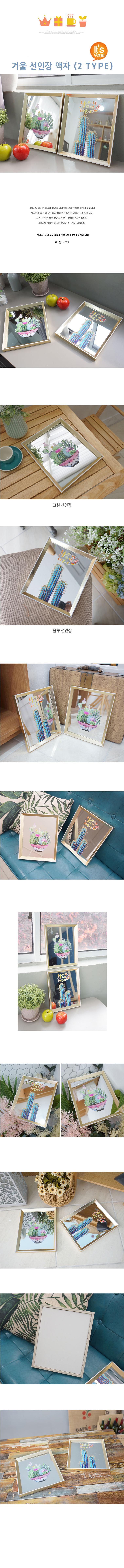 거울 선인장 액자 (2 TYPE) - 베가, 15,000원, 홈갤러리, 팝아트