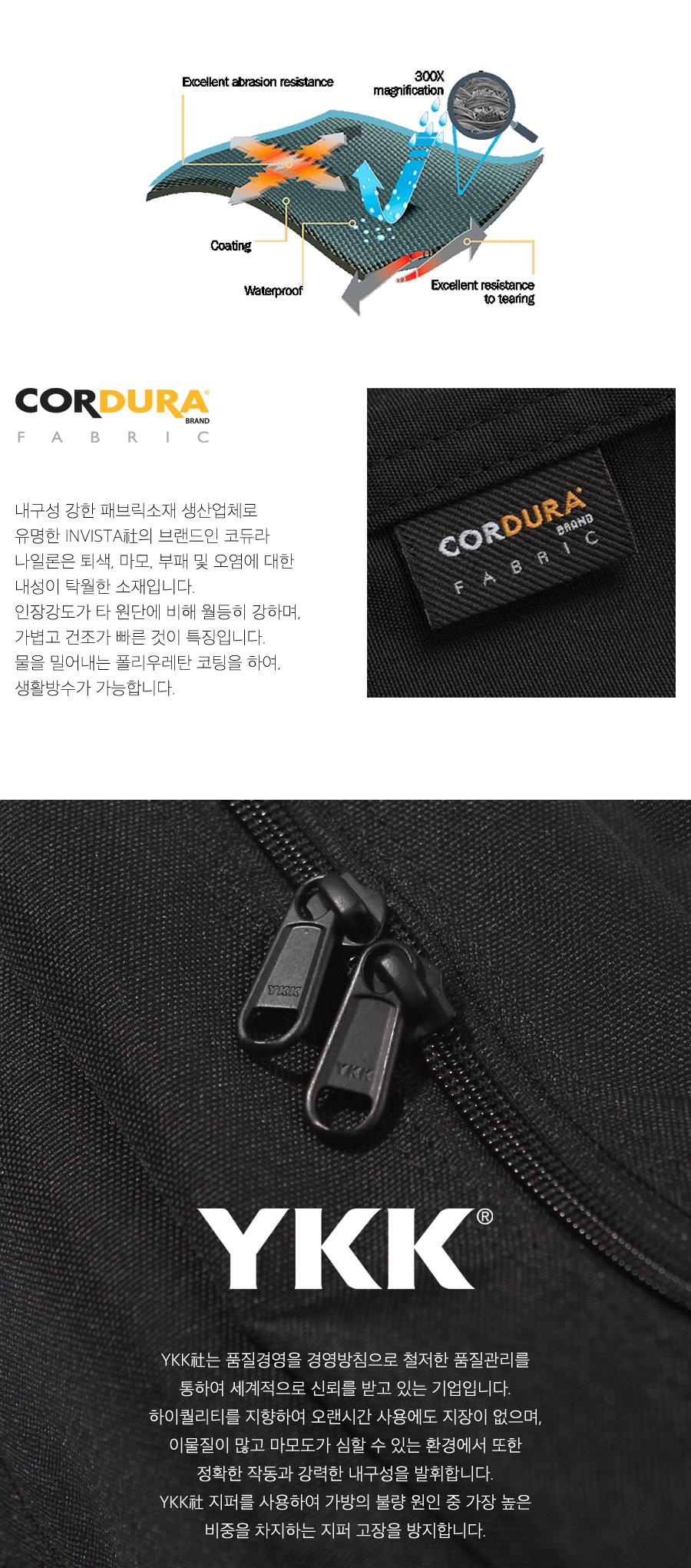 코듀라 나일론 웨이스트백-미드 네이비