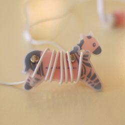 clever zebra(pitch&gray)