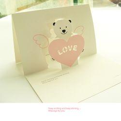 POP-Bear 러브카드-Pink