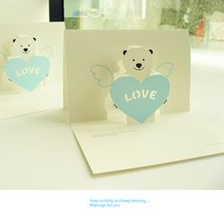 POP-Bear 러브카드-Blue