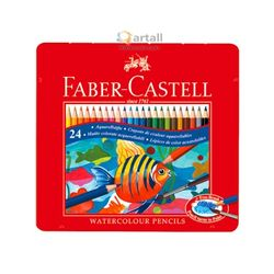 파버카스텔 학생용 수채색연필 24색(틴케이스)