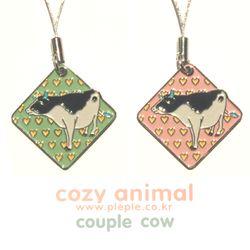 Cozy Animal Couple-Cow