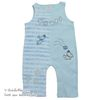 S-24212 아기 강아지 Vintage 스타일 고급 Cotton 니트 멜빵바지 Blue (0-12개월)