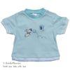 S-24213 아기 강아지 Vintage 스타일 고급 Cotton 니트 티셔츠 Blue (0-12개월)