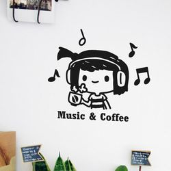 Life sticker-뮤직 & 커피