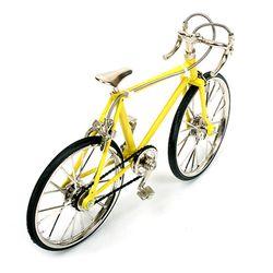 레이싱 자전거 미니어쳐 - 옐로우