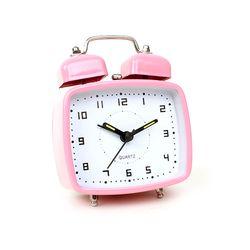 미니 프레임 알람 시계 - 핑크
