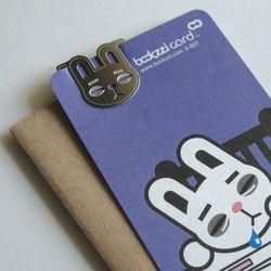 잠탱이 토끼씨 - 북찌 책갈피 카드