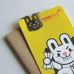 열공 토끼씨 - 북찌 책갈피 카드