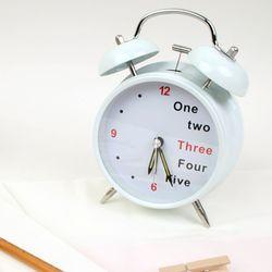 123 라이트 알람시계 - 화이트