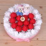 웨딩 딸기 케익 만들기(솜포함)
