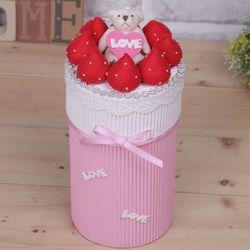 딸기 막대과자 상자(막대과자포장봉투포함)