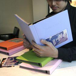 Color photo book(L) 접착식-연핑크 25매