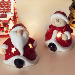 귀염둥이 산타 눈사람 촛대 2p set