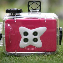 방수 4렌즈 카메라-핑크