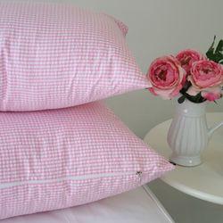 체크 리플베개 Pink-A기본형
