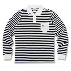 [정품] 알슨 긴팔 1909 STRIPE COLLAR T-Shirts (BLACK)