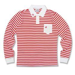 [정품] 알슨 긴팔 1909 STRIPE COLLAR T-Shirts (RED)