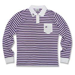 [정품] 알슨 긴팔 1909 STRIPE COLLAR T-Shirts (PURPLE)