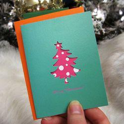 Mini Heart card- Tree