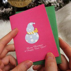 Mini Heart card- Snowman