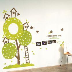 액자스티커-행복을 주는 그린나무 Ver1