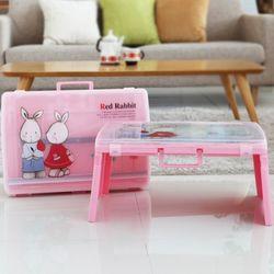 엄마와함께쓰는책상가방 (래빗) - 핑크
