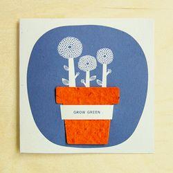 [클리어런스] FLOWERPOT CARD - orange