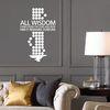 모든 지혜는 주님에게서 오고 영원히 주님과 함께 있다 - 성경말씀스티커(244)