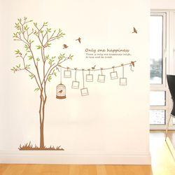 봄나무 - 나무와 포토프레임 (완제품A) 그래픽스티커 나무 월데코 포인트