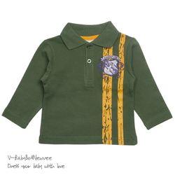 H-24331 Vintage Style 고급 PK Cotton 티셔츠 Green